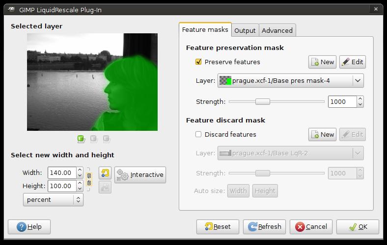 Manual for version 0 7 - Liquid Rescale GIMP plugin